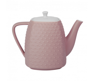 Théière céramique rose