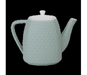 Théière céramique bleue verte